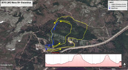 Mens 50+ Snowshoe Race Map