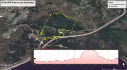 Womens 50+ Snowshoe Race Map